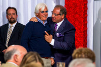 Bob Baffert and Ahmed Zayat at the Kentucky Derby post position draw.