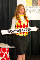 Bodhisattva is the first horse selected for a gate position during the Preakness Post Draw at Pimlico Race Course in Baltimore, Maryland.