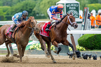 Coach Inge, John Velazquez up, trained by Todd Pletcher, wins the Brooklyn Invitational (GII) at Belmont Park in Elmont, New York.