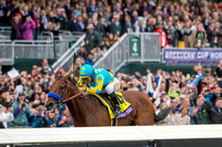 "Triple Crown winner American Pharoah, ridden by Victor Espinoza and trained by Bob Baffert, wins the Breeders' Cup Classic (GI) and becomes the first ""Grand Slam"" champion."