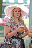 Scenes and fashions from Belmont Stakes day at Belmont Park.