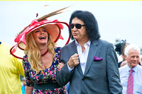 Gene Simmons and wife Shannon Tweed at the Preakness Stakes