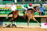 Cathryn Sophia, ridden by Javier Castellano and trained by John Servis, wins the 2016 Kentucky Oaks at Churchill Downs in Louisville, Kentucky.
