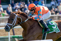 Da Big Hoss, Florent Geroux up, trained by Mike Maker, wins the Belmont Gold Cup invitational at Belmont Park, Elmont, New York.
