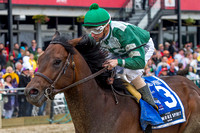 Always Sunshine, ridden by Frank Pennington, trained by Edward Allard, wins the GIII Sagamore Spirit Maryland Sprint Stakes at Pimlico Race Course in Baltimore, Maryland.