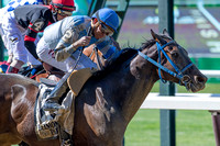 Joking, Manuel Franco up and trained by Charlton Baker, wins the Grade II True North Stakes at Belmont Park in Elmont, New York.