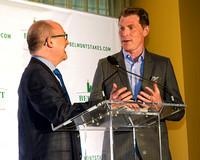 Celebrity chef and race horse owner Bobby Flay discusses his part ownership in Belmont Stakes contender Creator at the 2016 Belmont Stakes Festival Post Draw at Rockefeller Center in Manhattan.