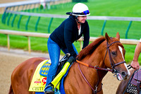 Chitu galloped about a mile in preparation for the 140th Kentucky Derby at Churchill Downs in Louisville, Kentucky.