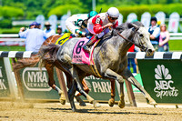 Norumbega, Joel Rosario up, wins the Brooklyn Invitational stakes at Belmont Park in New York.