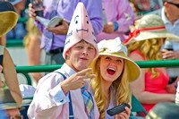 Fashions, hats and the scene from the 140th Kentucky Derby.