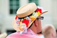 Patrons sporting hats on Oaks day.
