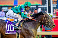 Class Leader, James Graham up, wins the Sir Barton stakes at Pimlico Race Course in Baltimore, Maryland.