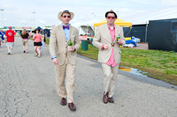 Patrons in the infield on Kentucky Derby day.