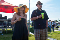 Fans enjoy concerts during the Infieldfest on Preakness day