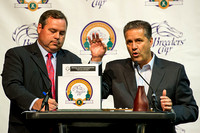 University of Kentucky Basketball Coach John Calipari drew post position 4 for Triple Crown Champion American Pharoah at the Rood & Riddle Post Position Draw for the Breeders' Cup Classic.